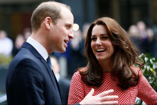 Le duc et la duchesse de Cambridge, William et Kate, le 11 mars 2016