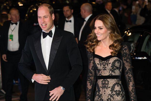 Kate Middleton et William de Cambridge à Londres le 18 novembre 2019.