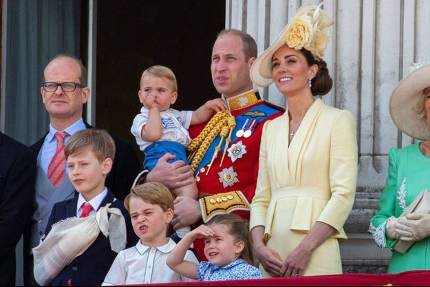 Kate Middleton, le prince William et leurs enfants lors de la parade Trooping the Color