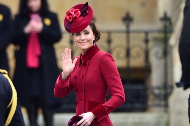 Kate Middleton à Londres en mars 2020.