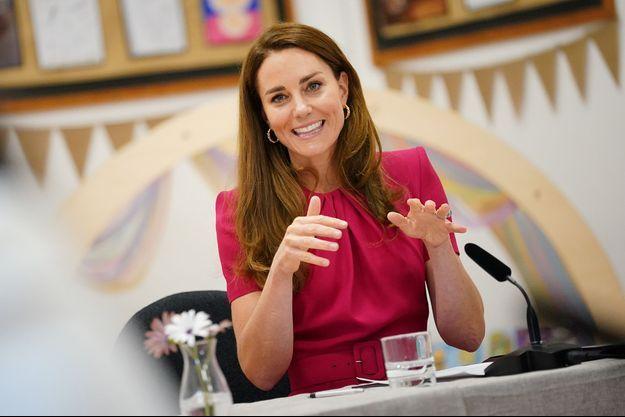 Kate Middleton en déplacement à Hayle (Cornouailles) le 11 juin 2021