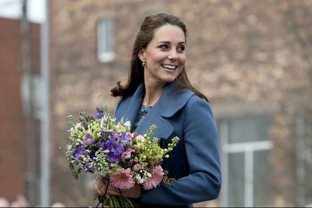 La duchesse de Cambridge, née Kate Middleton, à Stoke-on-Trent le 18 février 2015.