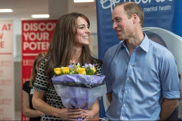 La prince William et son épouse la duchesse de Cambridge à Londres, le 10 octobre 2015