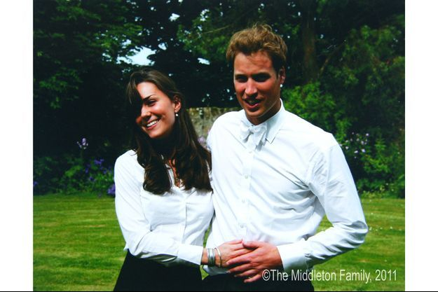 Kate Middleton et le prince William lors de la remise de diplôme de St Andrew's, en 2005