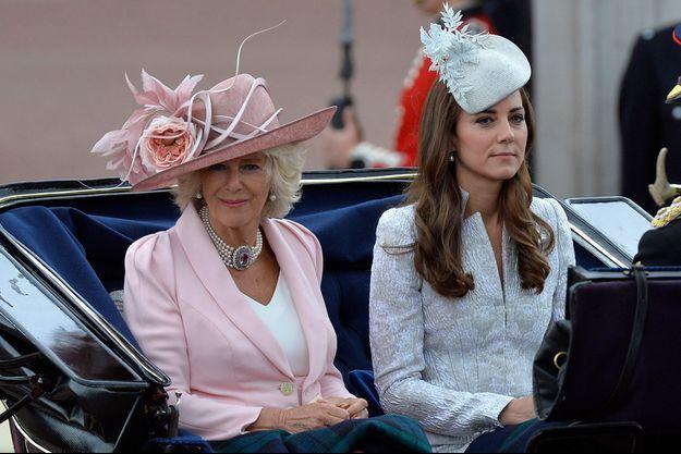 Kate et Camilla, lors du Trooping the Colour de juin 2014.