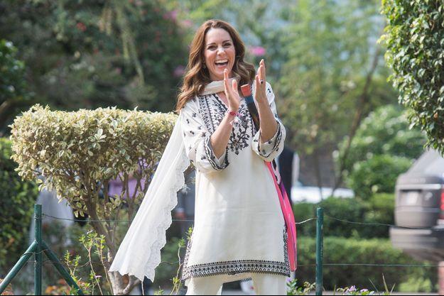 Kate Middleton lors du dernier jour de sa visite officielle au Pakistan le 18 octobre 2018