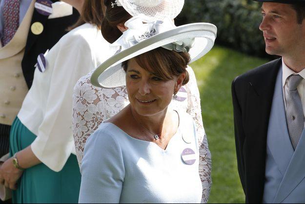 Carole Middleton à Ascot, le 20 juin 2017