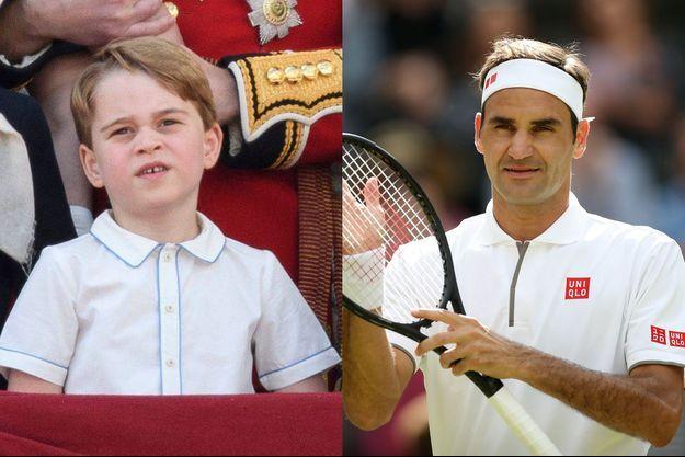Le prince George et Roger Federer