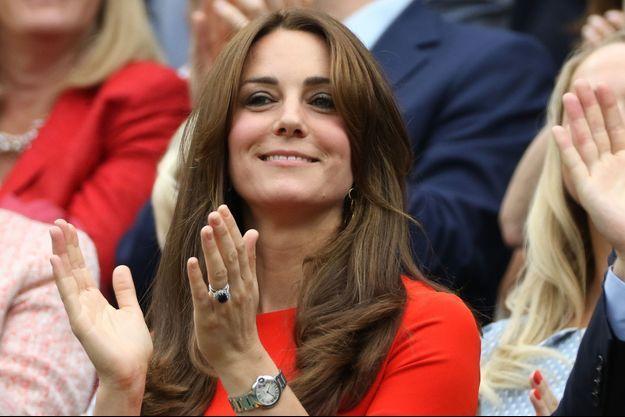 La duchesse Catherine de Cambridge lors du tournoi de Wimbledon, le 8 juillet 2015