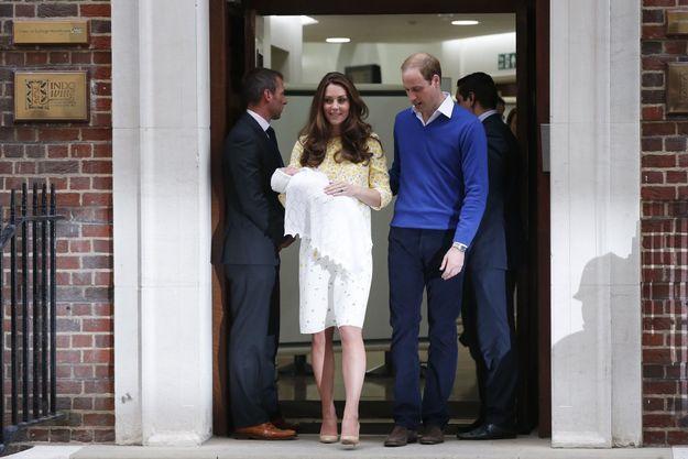 Kate Middleton et le prince William et Charlotte