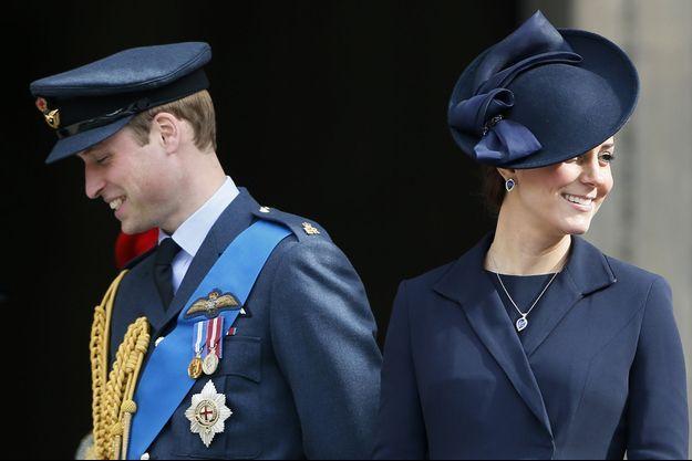 Le prince William et la duchesse de Cambridge, née Kate Middleton, le 13 mars à Londres.