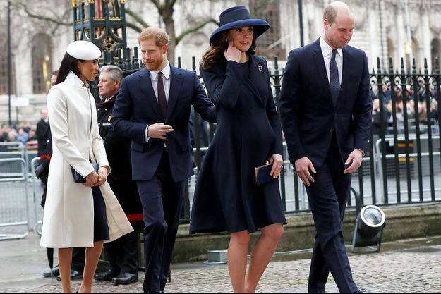 Meghan Markle, le prince Harry, Kate Middleton, et le prince William.