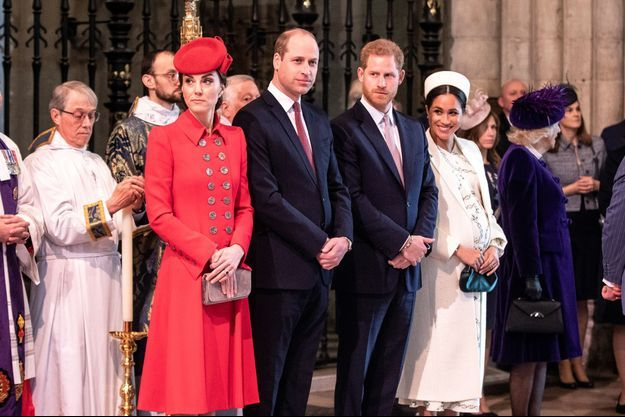 Kate, William, Harry et Meghan à Londres, le 11 mars 2019