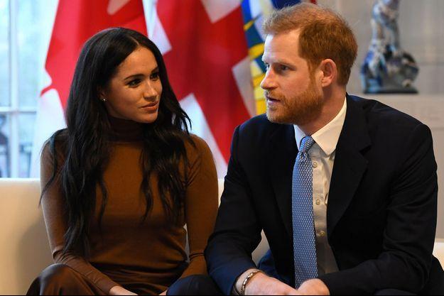 Meghan et Harry, le 7 janvier, à Londres.