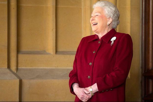 Elizabeth II, en avril 2014, au château de Windsor.