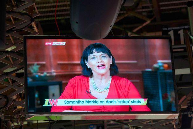 Samantha Markle intervenant en duplex dans une émission de télévision en mai dernier.