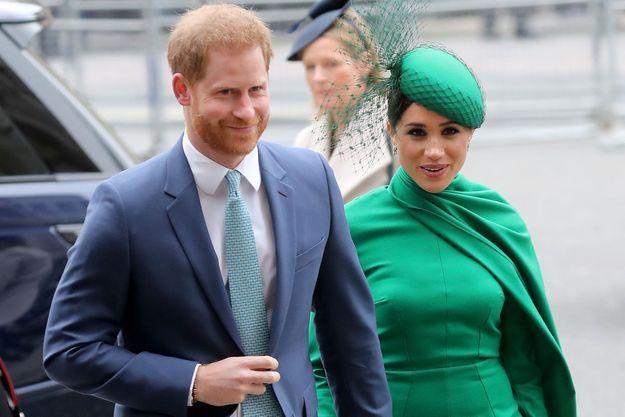 Le prince Harry et Meghan Markle en mars 2020 à Londres.