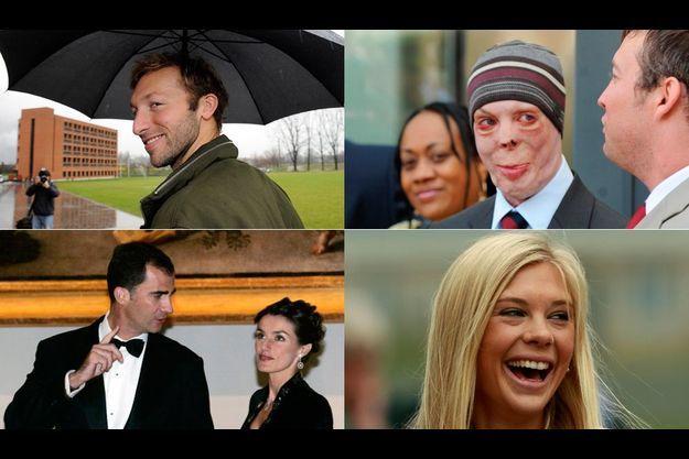 De gauche à droite : Ian Thorpe, le vétéran d'Afghanistan, Martyn Compton, Felipe et Letizia d'Espagne, Chelsy Davy