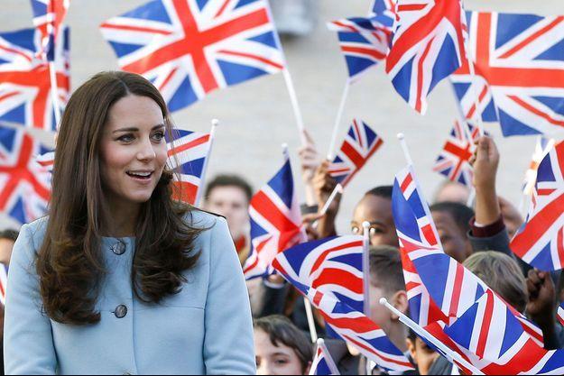 Enceinte de six mois, la princesse en sortie officielle à Londres, le 19 janvier, avant de s'envoler en famille pour l'île Moustique.