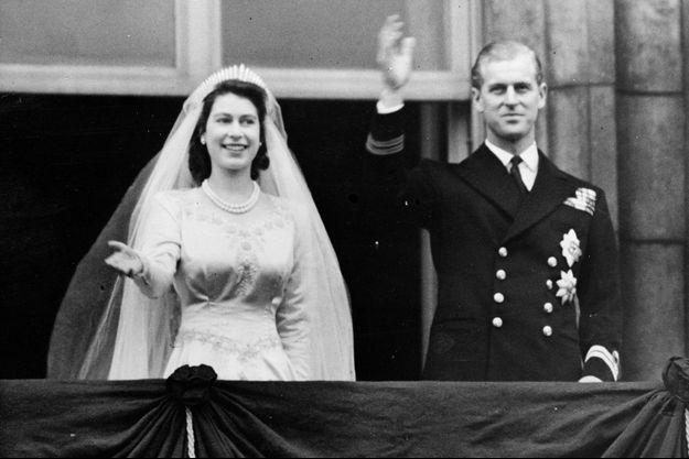 La princesse Elizabeth et le prince Philip, le 20 novembre 1947, jour de leur mariage