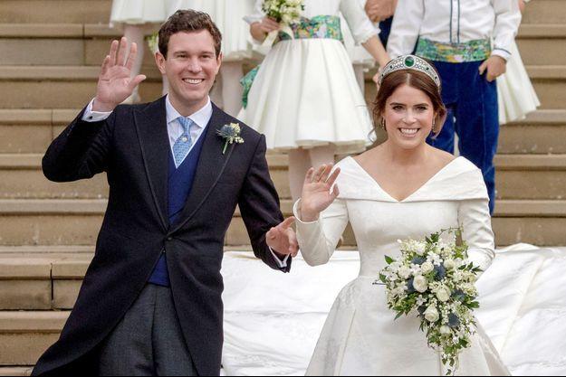 La princesse Eugenie et Jack Brooksbank le 12 octobre 2018, jour de leur mariage