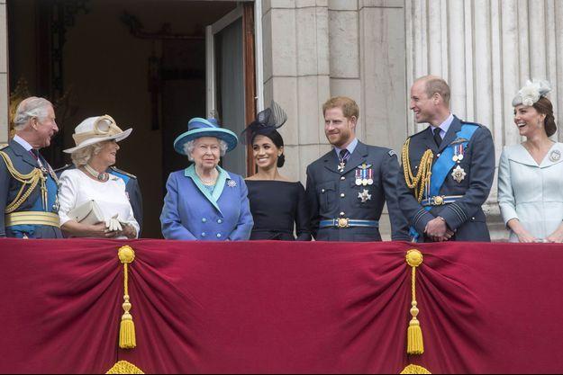 La famille royale britannique à Londres, le 10 juillet 2018