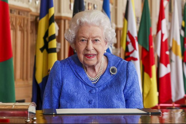 Elizabeth II lors de son discours pour le jour du Commonwealth.