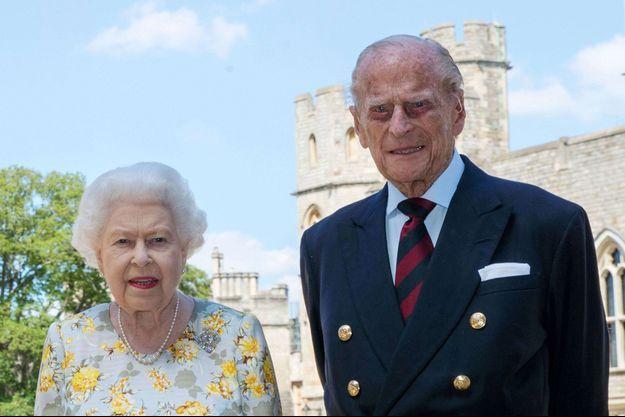 La reine Elizabeth II et le prince Philip au château de Windsor, le 9 juin 2020