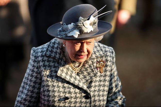 La reine Elizabeth II à Hillington, près du domaine de Sandringham, le 19 janvier 2020