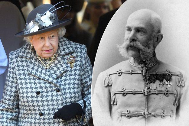 La reine Elizabeth II le 19 janvier 2020 - L'empereur François-Joseph d'Autriche en 1892 (photo de Koller Karoly)