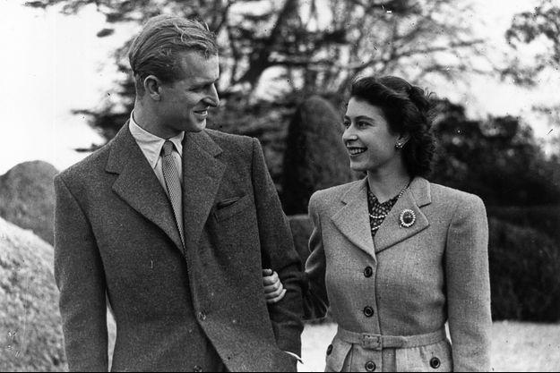 Elizabeth et Philip, jeunes amoureux en lune de miel, en novembre 1947.