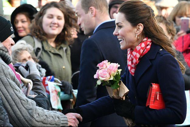 Kate Middleton en Galles du Sud le mardi 4 février 2020.