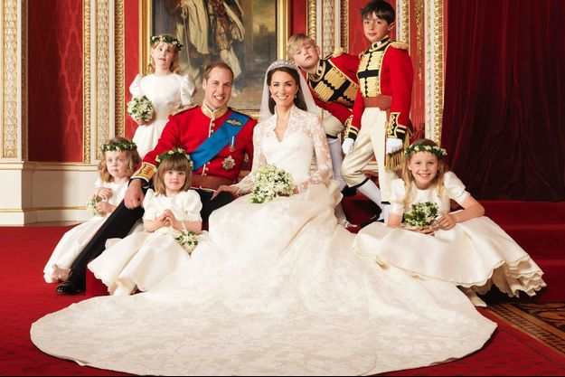 Kate Middleton dans sa robe de mariée Alexander McQueen, le 29 avril 2011