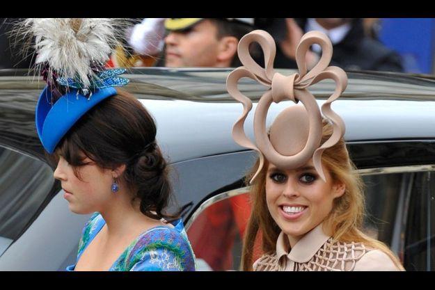 Les princesses Eugenie et Beatrice d'York, au mariage du prince William