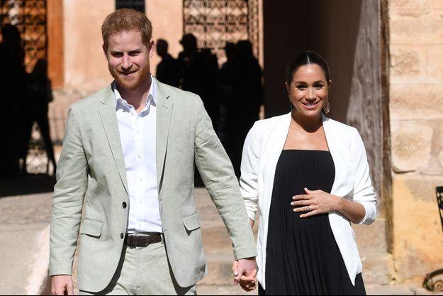 Le prince Harry et son épouse la duchesse Meghan Markle le 25 février 2019 à Rabat, au Maroc.