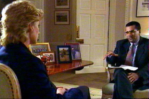 Pour BBC 1, dans l'appartement de la princesse de Galles, au palais de Kensington