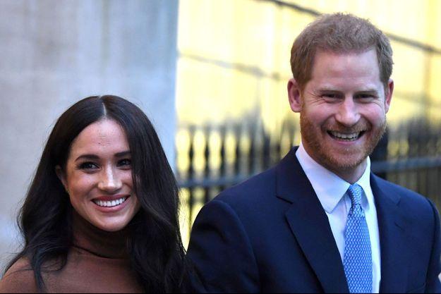 Meghan et Harry, le 7 janvier 2020, à Londres.