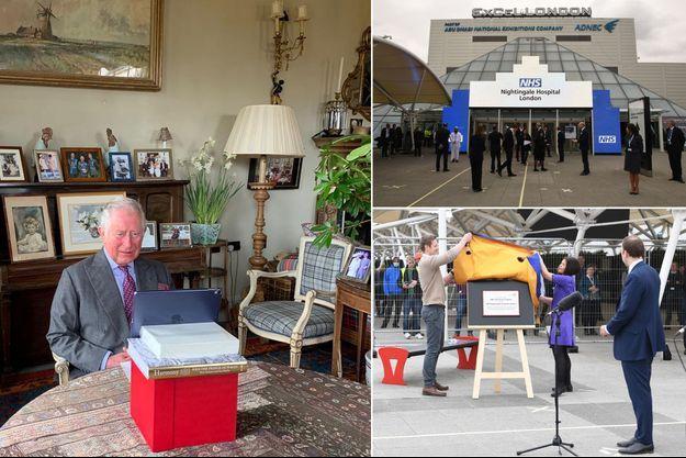Le prince Charles a inauguré l'hôpital de campagne de Londres depuis son manoir de Birkhall en Ecosse, le 3 avril 2020