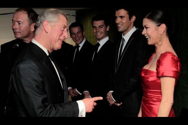 Le Prince Charles et Catherine Zeta-Jones, lors de la cérémonie d'ouverture de la Ryder Cup