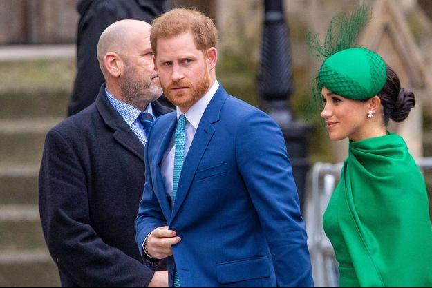 Le prince Harry avec son épouse Meghan Markle