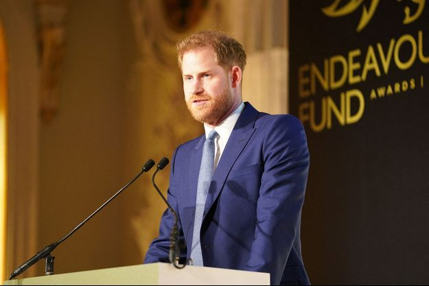 Le prince Harry aux Endeavour Fund Awards à Londres en mars 2020