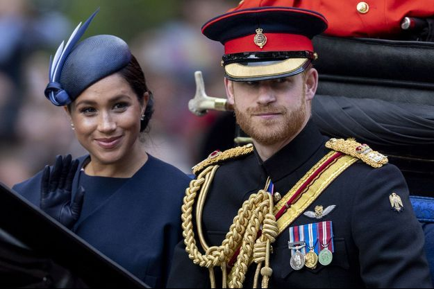 Meghan et Harry en juin 2019 lors de la parade Trooping the Colour