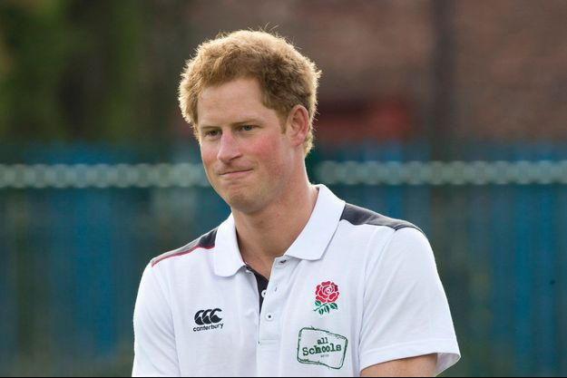 Le prince Harry à Slaford, le 20 octobre 2014