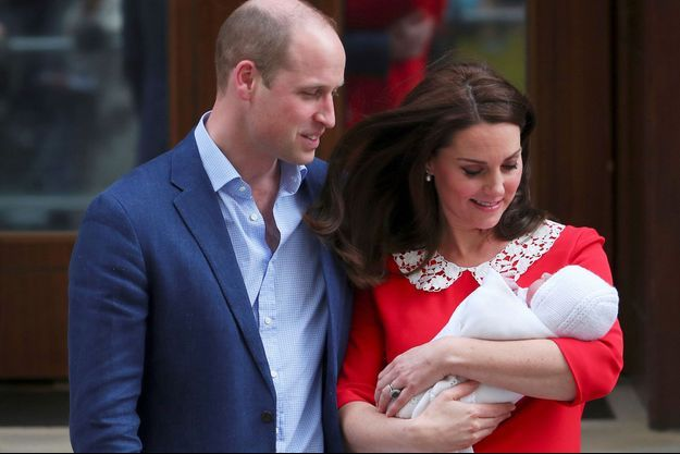 Le prince William, son épouse Kate et le prince Louis
