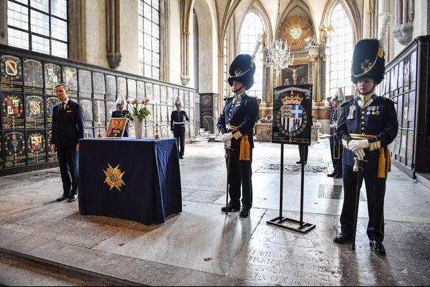Cérémonie à Stockholm en mémoire du prince Philip, duc d'Edimbourg, le 17 avril 2021