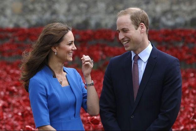 Le prince William et Kate Middleton en aout dernier