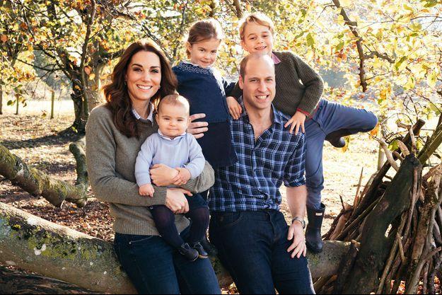 Kate Middleton, le prince William et leurs trois enfants, George, Charlotte et Louis
