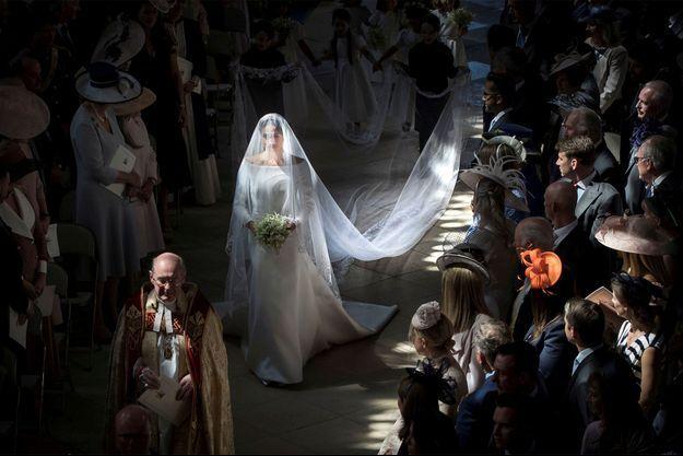 Meghan Markle à l'église le jour de son mariage.