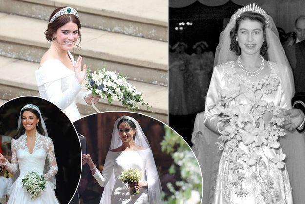 Les bouquets de mariées de la princesse Eugenie d'York, de Kate Middleton, de Meghan Markle et de la reine Elizabeth II