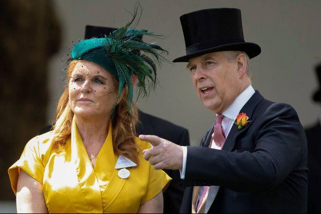 Sarah ferguson et le prince Andrew à Ascot, le 21 juin 2019